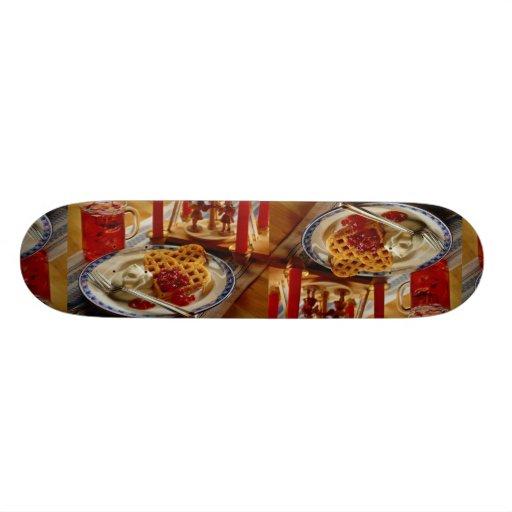 Waffles and beverage skateboard decks