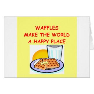 waffles greeting card