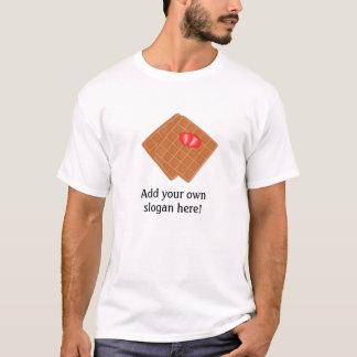 Waffles graphic: Customizable Slogan T-Shirt