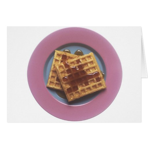 Waffles With Syrup Card
