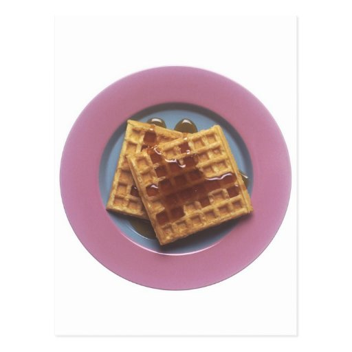 Waffles With Syrup Postcards
