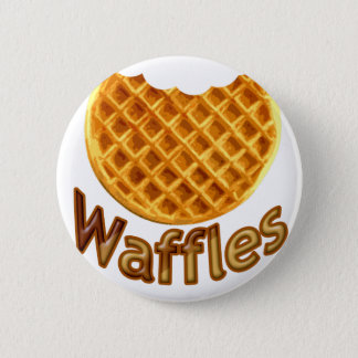 Waffles Yum 6 Cm Round Badge