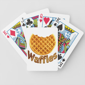 Waffles Yum Bicycle Playing Cards