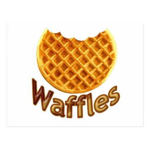 Waffles Yum Postcards
