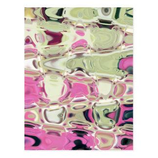 Waffling Colors Template Background Design Post Cards