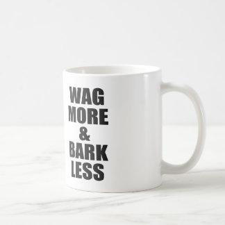 WAG MORE AND BARK LESS BASIC WHITE MUG