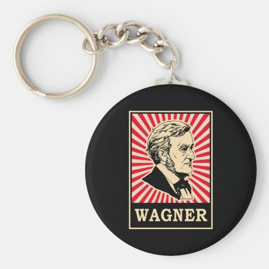 Wagner Basic Round Button Key Ring