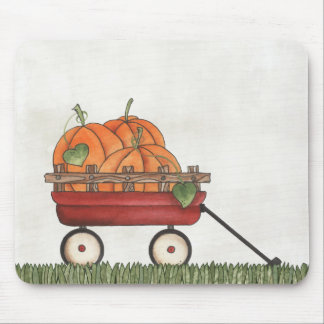 Wagon full of Pumpkins Mouse Pad