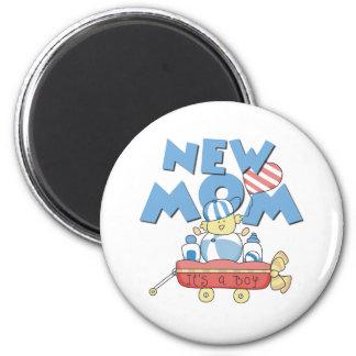 Wagon New Mom It's a Boy Refrigerator Magnet