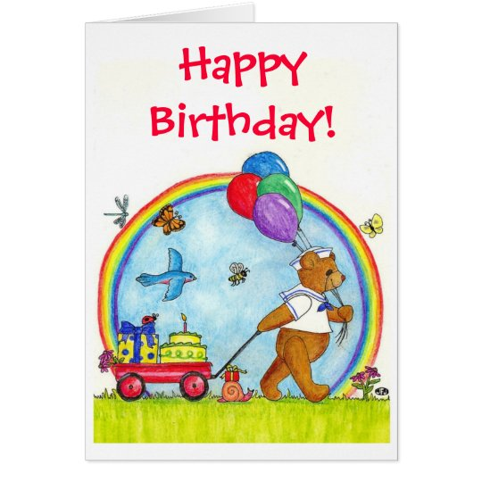 Wagon of Wishes Birthday Card