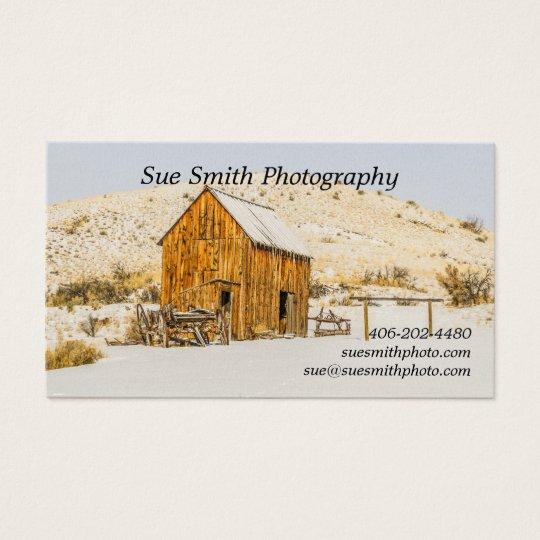 Wagon, Outhouse, Barn, American Bison, Buffalo Business Card