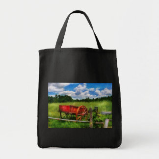 Wagon - The old wagon cart  2 Tote Bags
