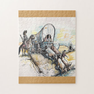 Wagon Train Jigsaw Puzzle