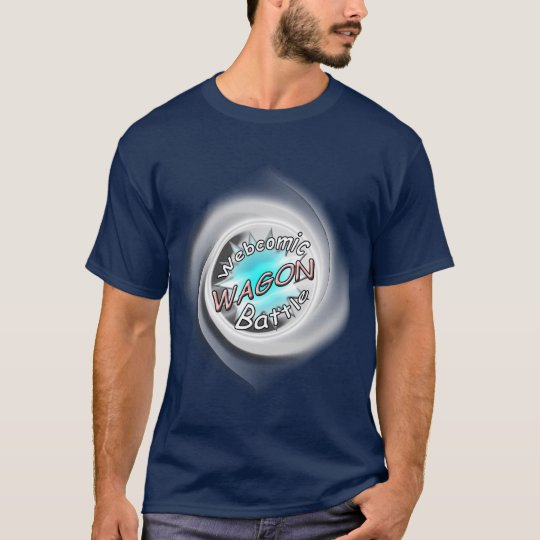 WAGON Webcomic Battle Swirly Logo Tshirt