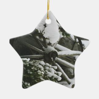 Wagon Wheel 2 Christmas Ornament