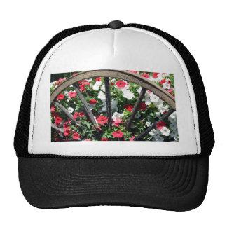 Wagon Wheel and Flowers 2 Hats