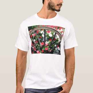 Wagon Wheel and Flowers 2 T-Shirt