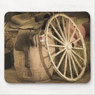 Wagon Wheel And Saddle Mousepad