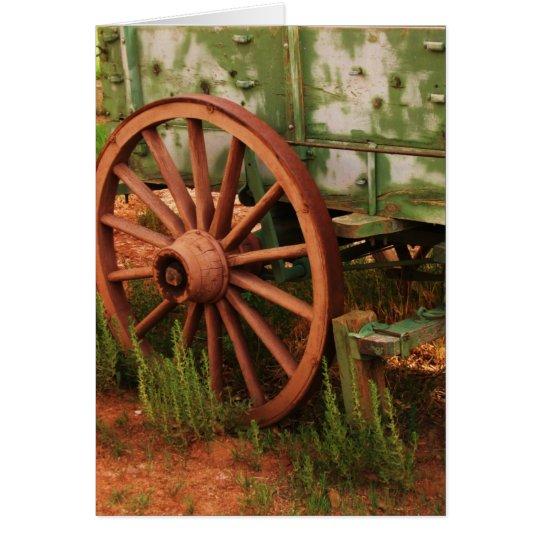 Wagon Wheel Card