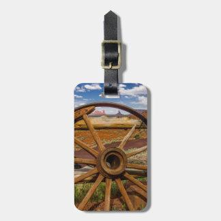 Wagon wheel close up, Arizona Luggage Tag