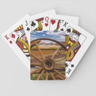 Wagon wheel close up, Arizona Playing Cards