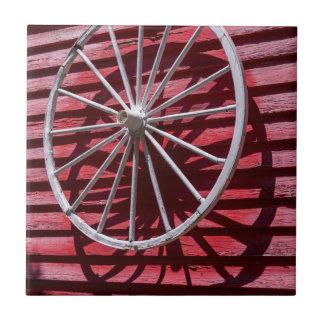 Wagon Wheel Small Square Tile