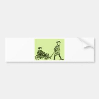 Wagon Wheels Bumper Sticker