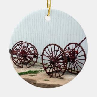 Wagon Wheels Christmas Ornament