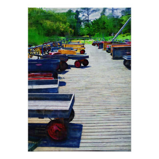 Wagons Fire Island Poster Print