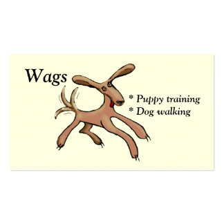 Wags puppy training and dog walking pack of standard business cards