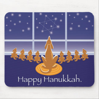 WagsToWishes_Menorah Dogs Mouse Mat