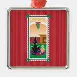 WagsToWishes®_Pets under the mistletoe Christmas Ornament