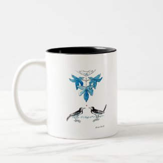 Wagtails Two-Tone Coffee Mug