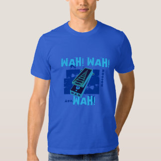 Wah! Wah! Wah! Guitar Pedal, Blue T-shirt