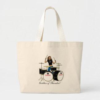 Waheela Drummer Girl Jumbo Tote Bag