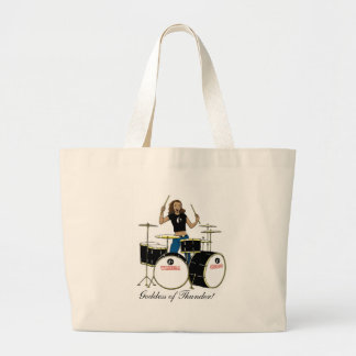 Waheela Drummer Girl Large Tote Bag