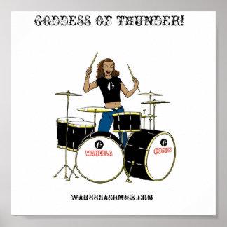 Waheela Drummer Girl Print