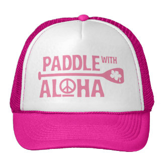 Wahine Paddle with Aloha Pink Trucker Hat