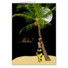 Wahine Pinup Coconut Tree Aloha Cards 2