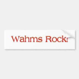 Wahms Rock Bumper Sticker