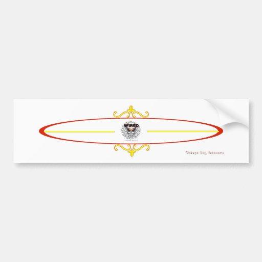 Wahnyo Style Surfboard Car Bumper Sticker