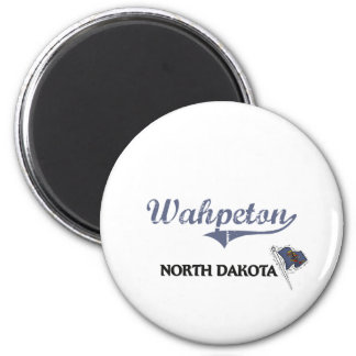 Wahpeton North Dakota City Classic 6 Cm Round Magnet