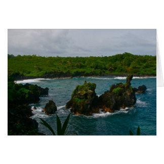 Waianapanapa State Park, Maui Greeting Card