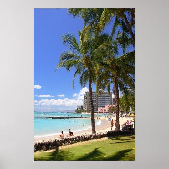 Waikiki Beach 2 Poster