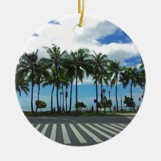 Waikiki Beach Hawaii Christmas Ornament