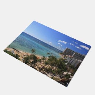 Waikiki Beach Hawaii Doormat