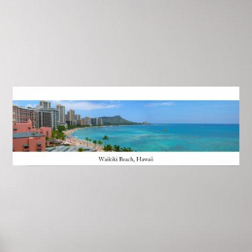 Waikiki Beach, Hawaii Print