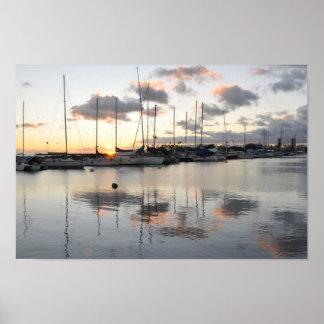 Waikiki Boat Harbor Print