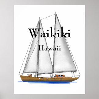 Waikiki Hawaii Poster