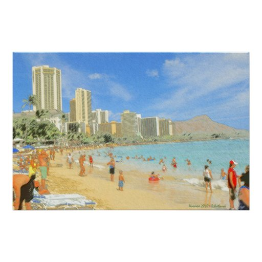 Waikiki Honolulu Hawaii - Fine Art Print